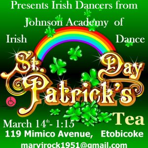 ADvertise St. Patrick's Tea
